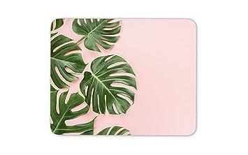 Hojas de la palmera Fondo rosa tapete de ratones Cojín ...