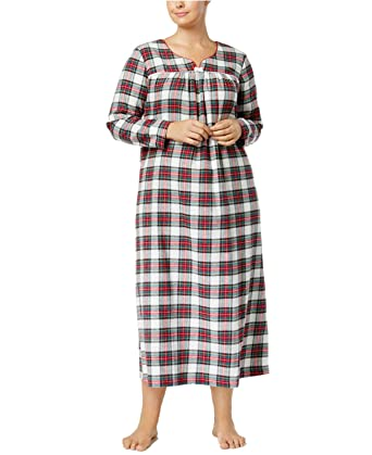5650355b49 Charter Club 100% Cotton Flannel Nightgown (Stewart Plaid) at Amazon ...