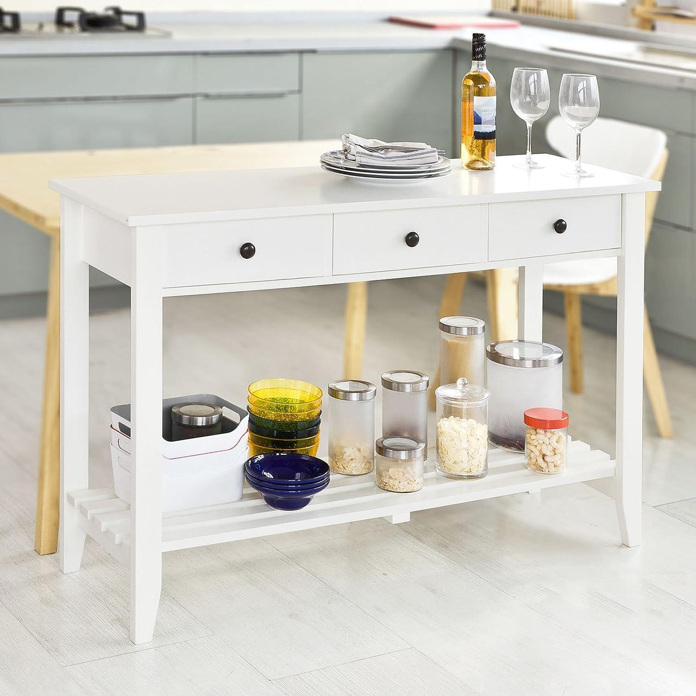 Great sobuy tavolo consolle con cassetti mobiletto ad with - Mobiletto ad angolo ...