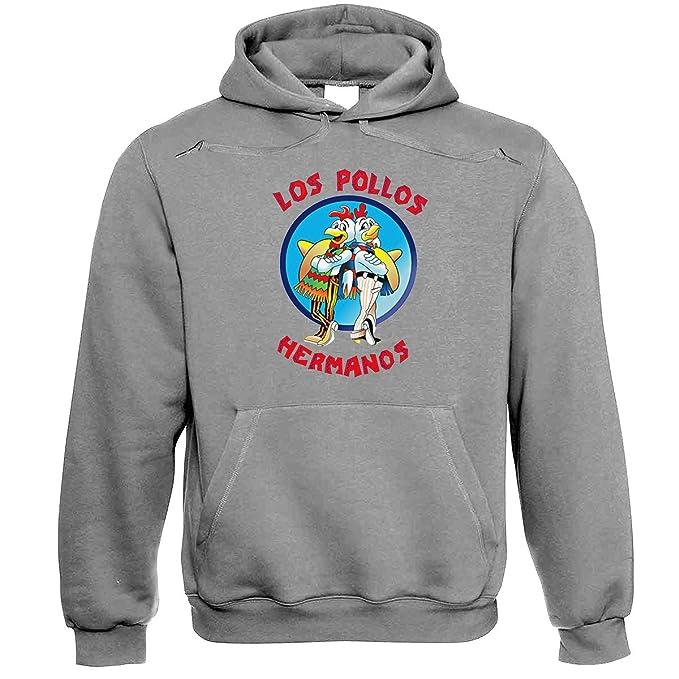 Los Pollos Hermanos Breaking Bad Series Grey Sudadera Con Capucha XXL: Amazon.es: Ropa y accesorios