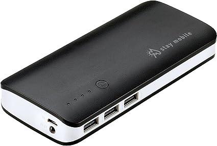 stay mobile Power Banco 22400 mAh Alta Capacidad con 3 Salidas USB ...