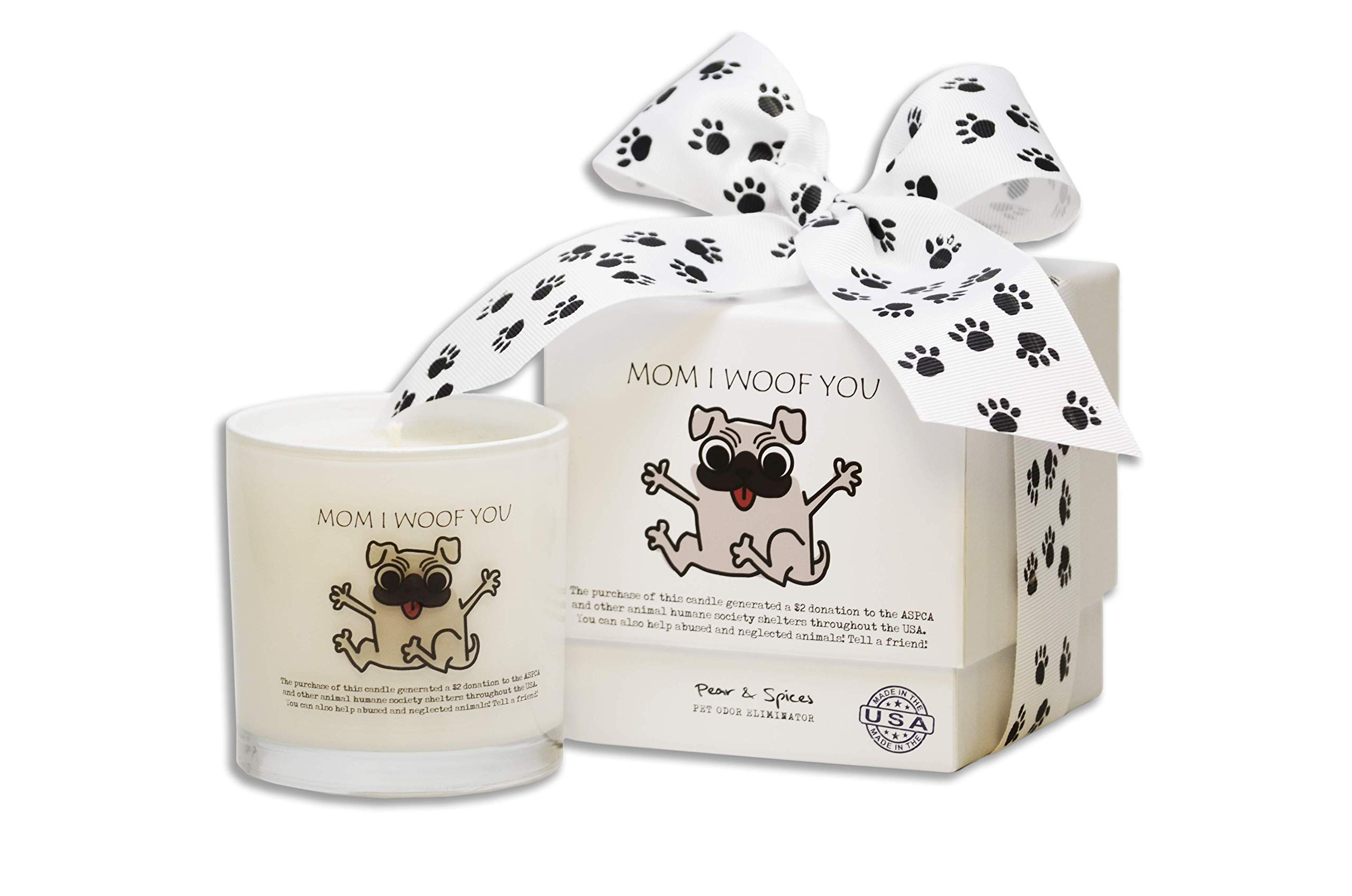 Pear & Spices - 9 Oz. Jar with Gift Box - $2 from this sale will be donated to the ASPCA and other Animal Humane Society Shelters - Highly Scented Candles