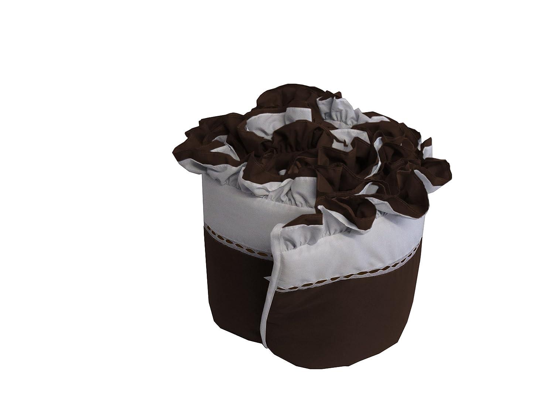 Baby DollBedding Regal Crib Bumper Chocolate 530bum-choc