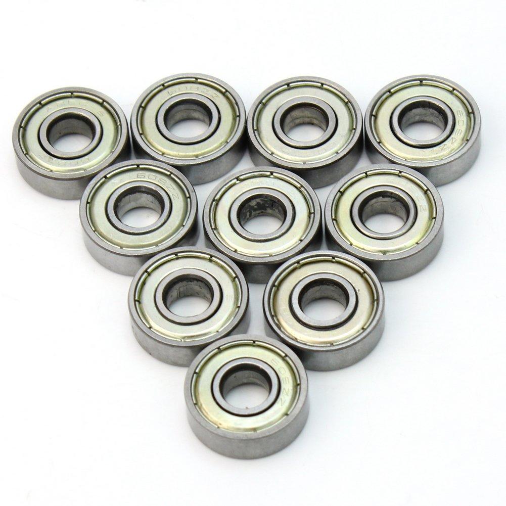 10 Pcs Pratique Roulement à Billes En Métal 8*22*7mm Profondes Pour Machine