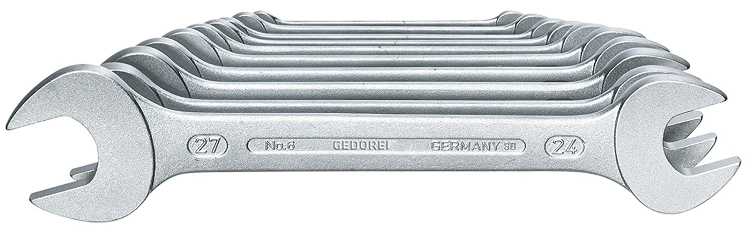 GEDORE 6-10 Double open ended spanner set 10 pcs 6-27 mm