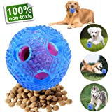 NEWBEA Interactive Dog Toys,IQ Treat Boredom & Food Dispensing Ball Toys for Small/Medium/Large Dogs,Puzzle Puppy Pals Tough Durable Chew Ball Nontoxic Rubber and Bouncy Ball Cleans Teeth For Puppy