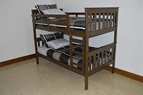 Amazon Com Dutchcrafters Amish Kids Twin Over Twin Bunk Bed