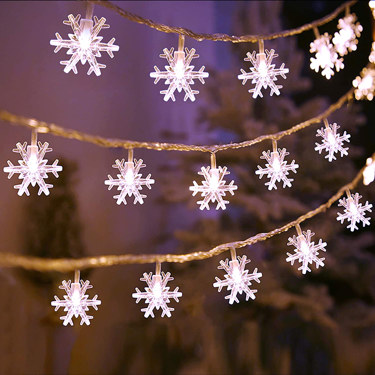 8ft LED Battery Operated Christmas String Lights Party Supplies Indoor Outdoor