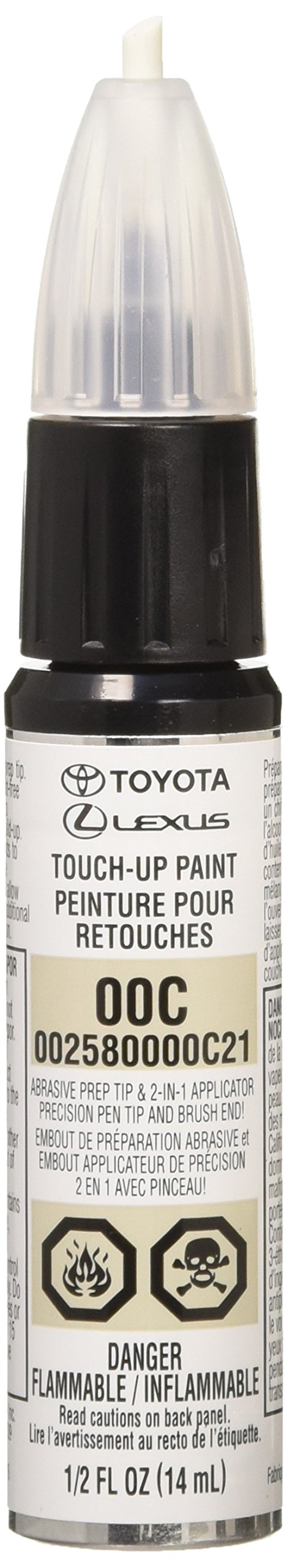 Toyota Genuine 00258-0000C-21 Clear Coat Touch-Up Paint Pen 1/2 FL OZ (14 ML)