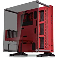 Thermaltake Core P3 Tempered Glass with Riser Cable Included Red Edition ATX Open Frame Panoramic Viewing Tt LCS Certified Gaming Computer Case CA-1G4-00M3WN-03