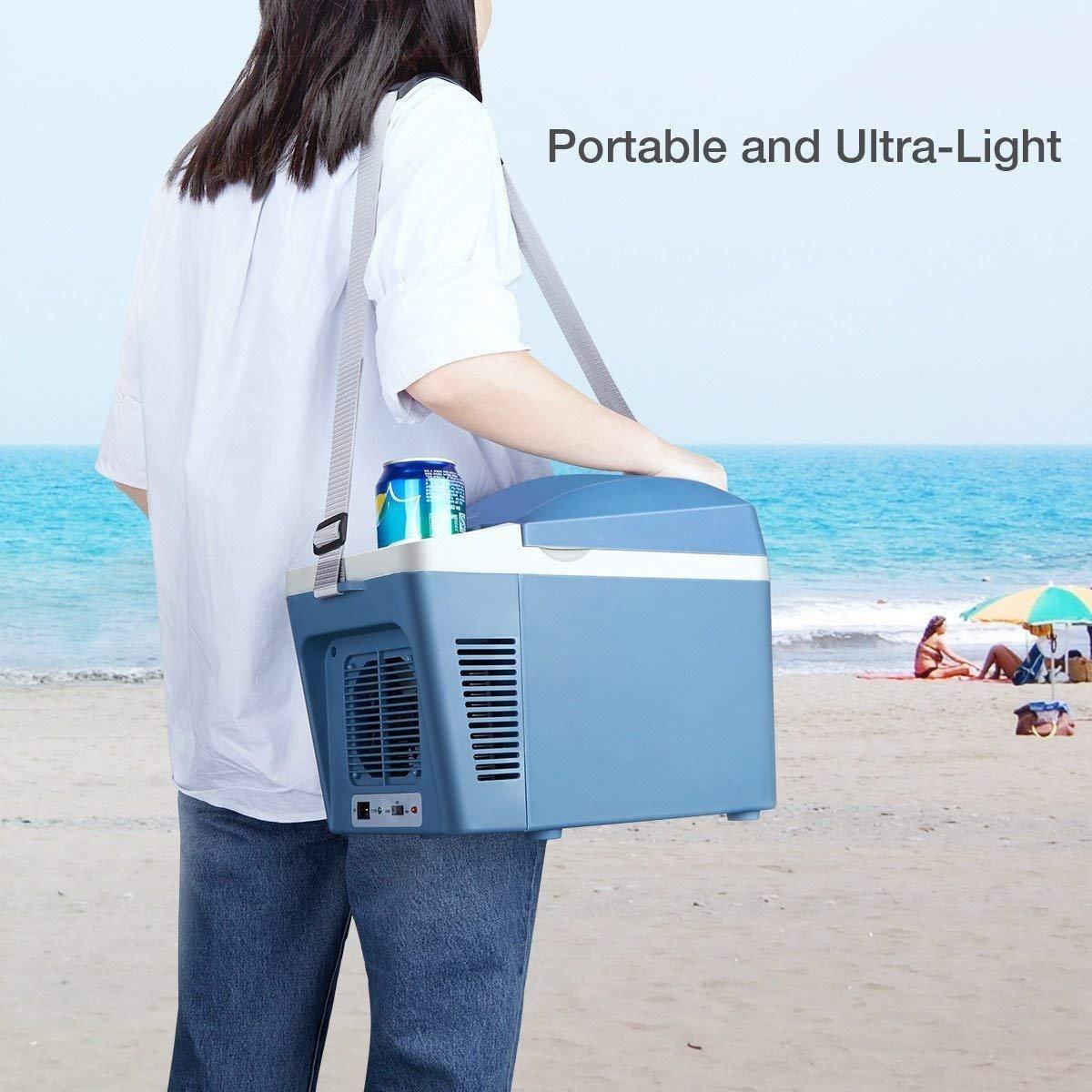 Amazon.es: Mini Nevera Portátil Termo - Enfriador Eléctrico Y Refrigerador Del Coche Más Cálido Enfriador De Viaje 7 Litros 12V DC