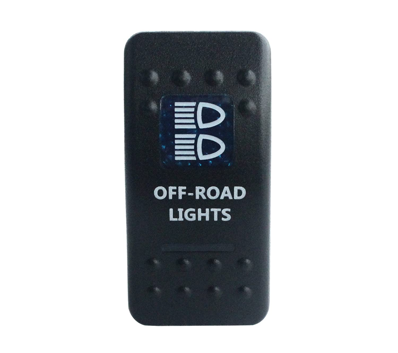 bandc Marine Grade Auto Boot Offroad Lights Wippschalter Blau LED 5Pin SPST ON-OFF-Wasserdicht IP68