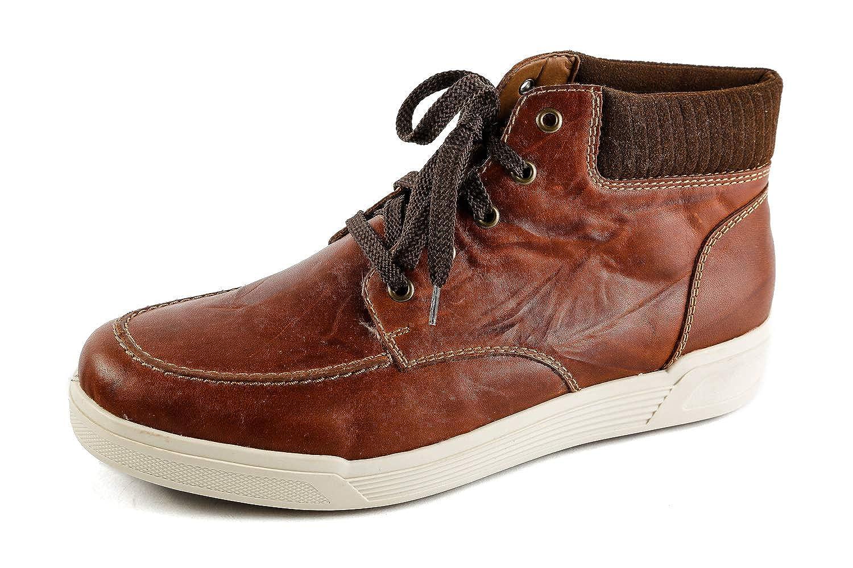 Rieker Herren Komfort Boots Gefüttert Grau Gr. 41: