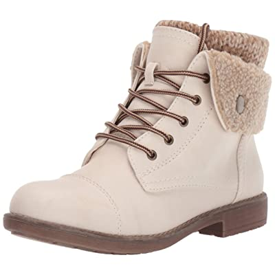 CLIFFS BY WHITE MOUNTAIN Women's Duena Boot, Winter White/Burn/Fabric/Fleece, 8 M US   Ankle & Bootie