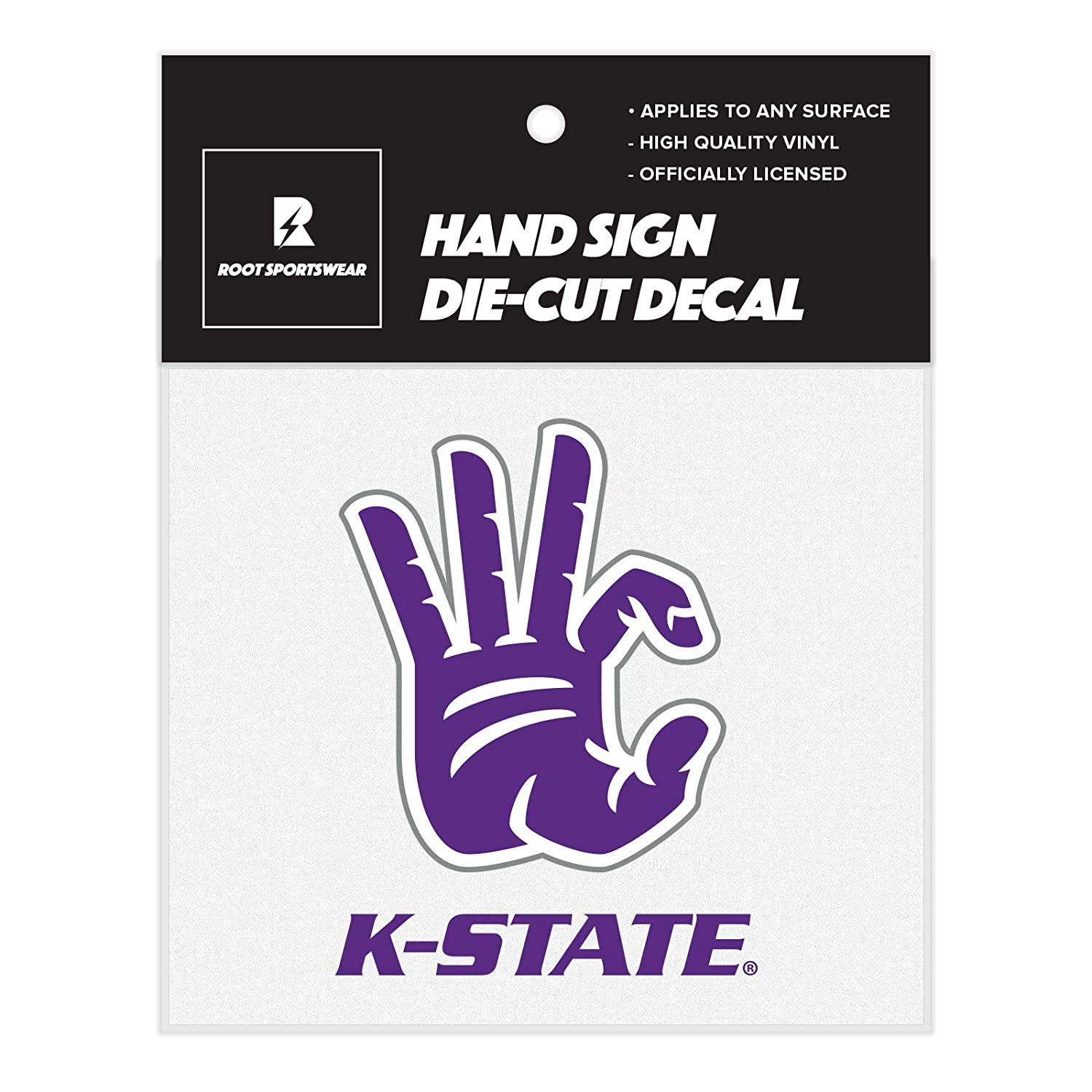 Root Sportswear Kansas State University K-State Wildcats WC Hand Sign Die-Cut Car Decal