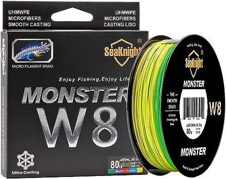 SeaKnight Monster Trenzado de Pescar W8/S9 Trenzado de 8/9 Hilos ...