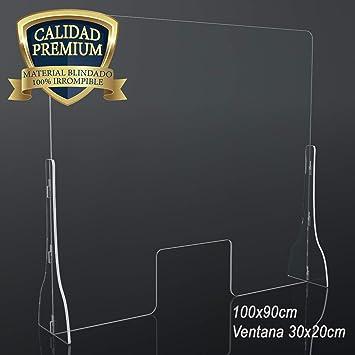 Mampara Premium Metacrilato de 5mm 100x90cm para farmacias, oficinas y Comercio en General. Vinilo Suelo Distancia de Seguridad Gratis: Amazon.es: Bricolaje y herramientas
