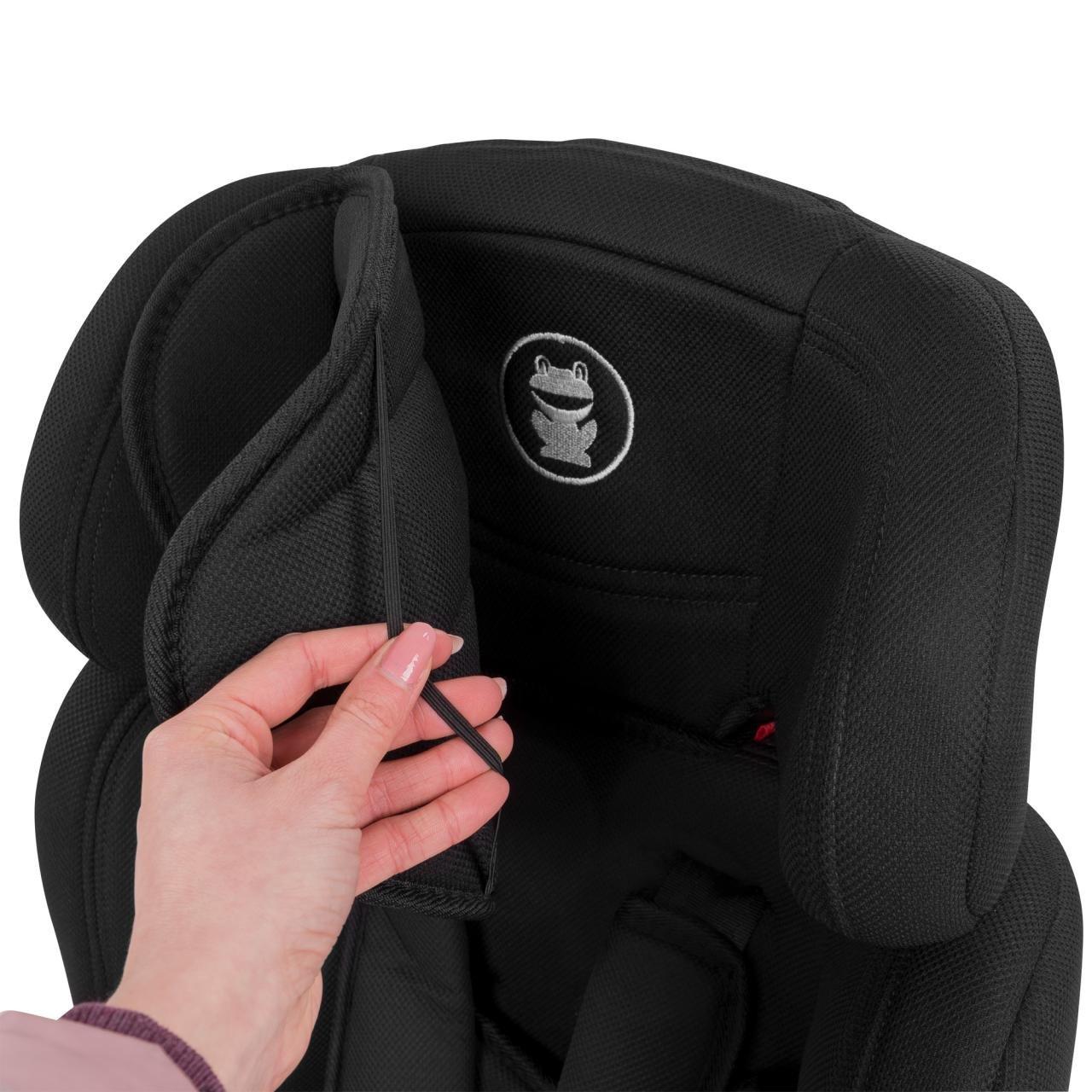 5-Punkte-Sicherheitsgurt verstellbare Kopfst/ütze Schwarz 9-36 kg FROGGY Autokindersitz Gruppe I//II//III + Sicherheitsnorm ECE R44//04