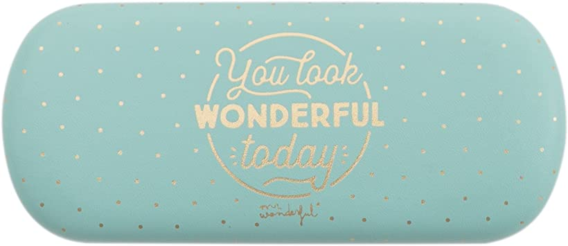 Mr. Wonderful Étui à Lunettes You Look Wonderful Today, 16 cm, Multicolore