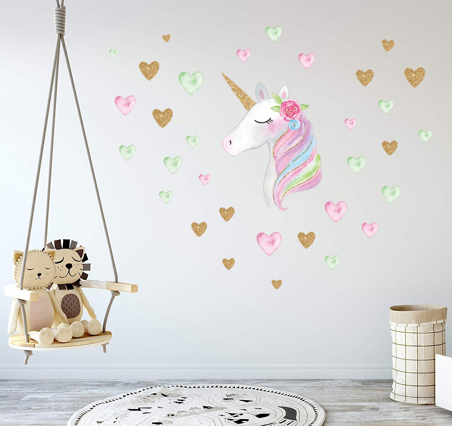 Unicorn Wall Decals,Unicorn Wall Decor Stickers Birthday Gifts for Girls  Kids Bedroom Decor Nursery...