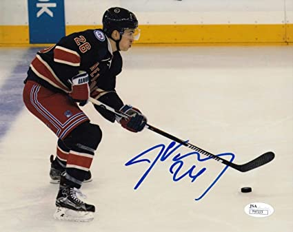 huge selection of 9be45 dee60 Jimmy Vesey New York Rangers Usa Autographed Signed Hockey ...