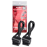 Controller Extension Cable Compatible For SNES (Super NES) [2 Pack] 6 Feet – 1.8m Cord by EVORETRO