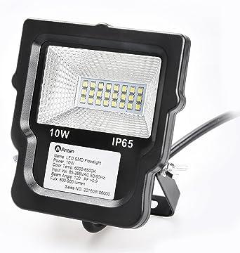Anten® Foco LED 10W Proyector Lámpara LED de Luz de Inundación ...