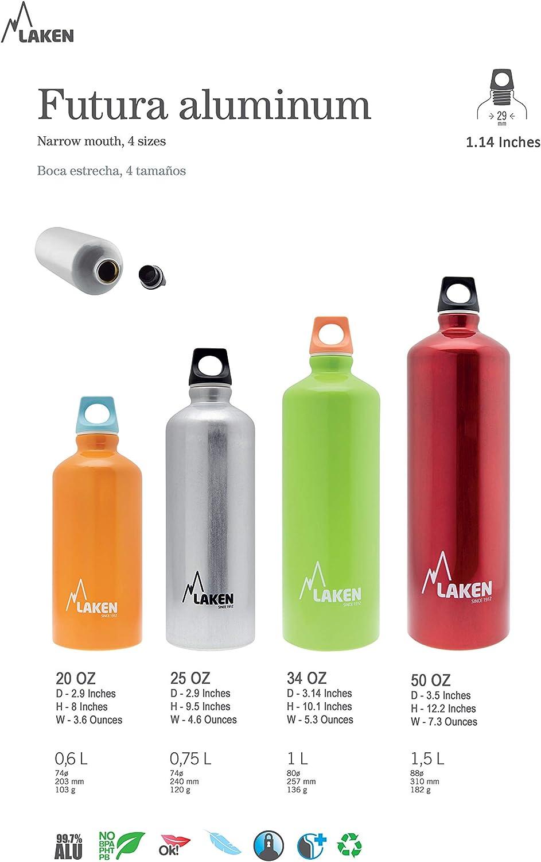 LAKEN Bouteille Futura de avec Bouchon /à vis et goulot /étroit