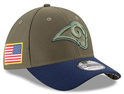 New Era 39Thirty Hat Los Angeles Rams NFL On-field Salute to Service Flex  Cap c7da3038e1fd