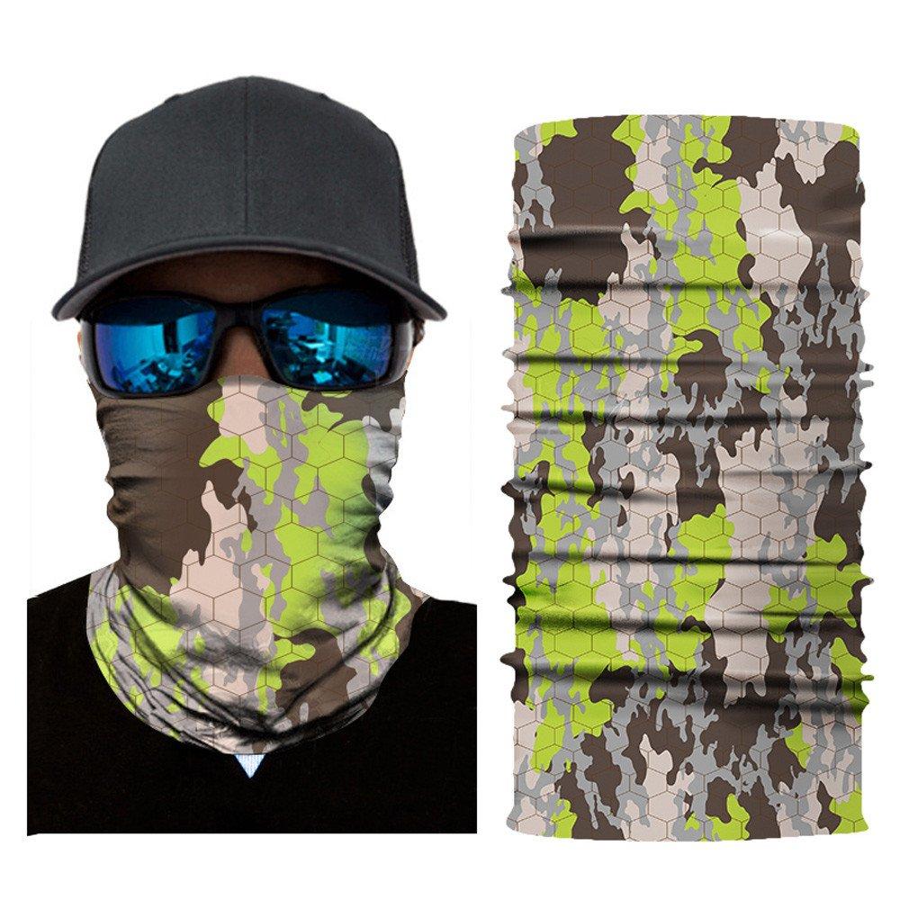 Feitb Bedrucktes Halstuch Volle Mikrofaser Gesichtsschutz Material ist flexibelRadfahren Motorrad Kopftuch Halswärmer Gesichtsmaske Ski Balaclava Stirnband
