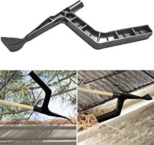 Morgan Som Gutter Cleaning Spoon and Scoop, Roof Gutters Cleaning Tool for Garden, Ditch, Villas, Townhouses - Black