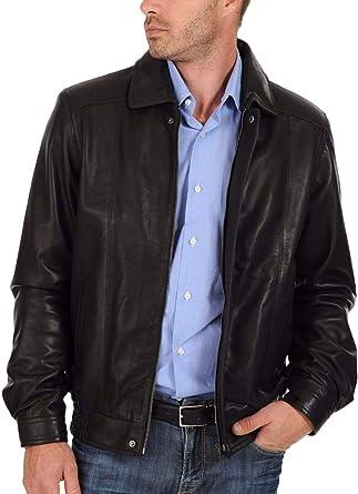 New Fashion Style Mens Leather Jackets Motorcycle Bomber Biker Black Real Leather Jacket Men