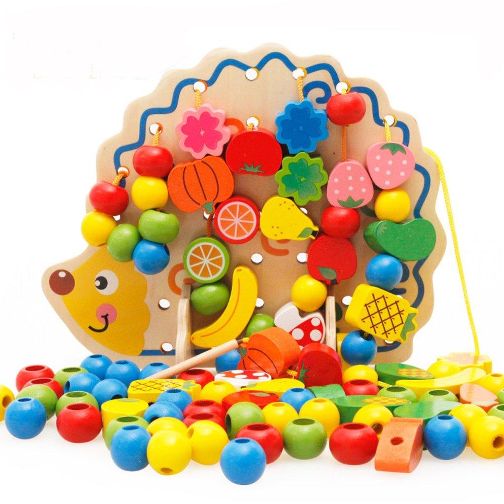 珍しい EITC Baby木製パズルビーズブロックWearロープゲームChirdren B075N495CC Hedgehogs and Fruit and Vegetableビーズスレッド化Toys EITC B075N495CC, パソコンパオーンズ:388b2dfa --- a0267596.xsph.ru