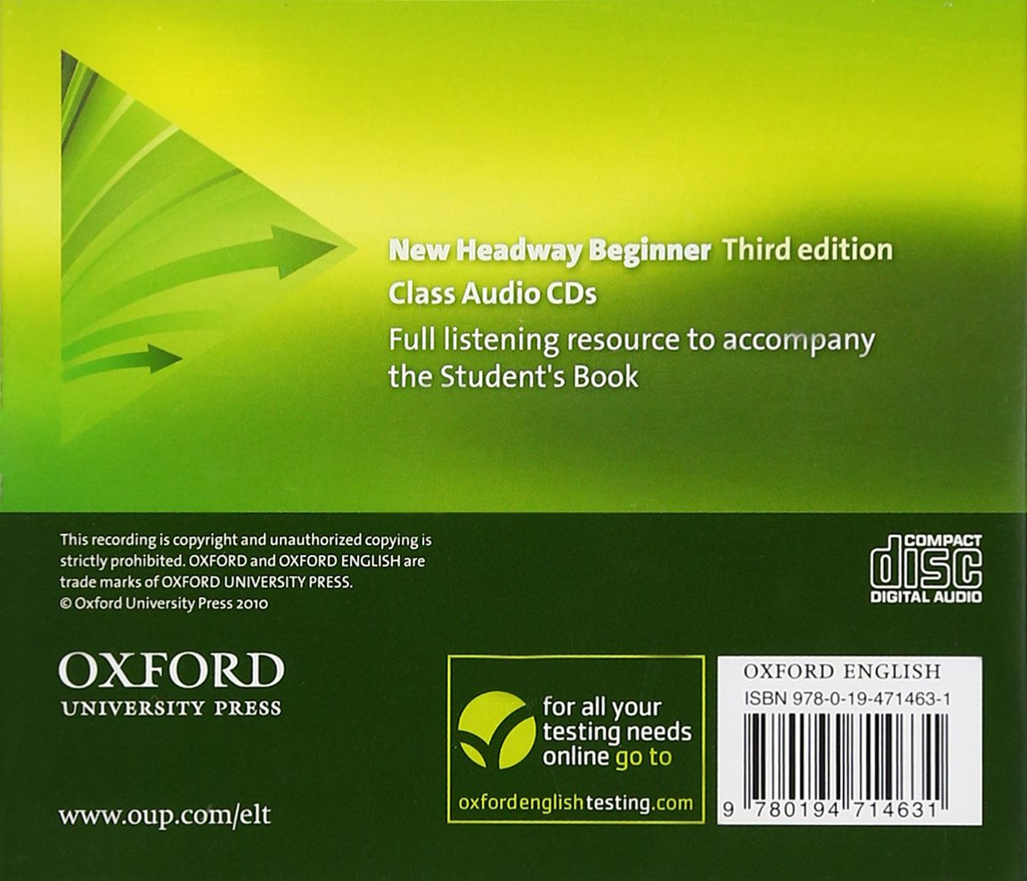 New Headway: Beginner Third Edition: Class Audio CDs (2) (Headway ELT): John  Soars, Liz Soars: 9780194714631: Amazon.com: Books