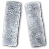 Zento Deals Soft Faux Sheepskin Seat Belt Shoulder Pad- Two Packs- A Must Have for All Car Owners for a More Comfortable Driv