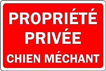 R Propri/ét/é priv/ée Chien m/échant Panneau Plaque Aluminium 3mm 300mm x 200mm