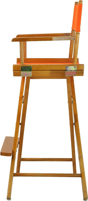 Casual Home Natur Rahmen Leinwand Regisseur Stuhl, Holz, Honey Oak Frame with Natural Canvas, 76,2 cm (30 Zoll) Honey Oak Frame With Tangerine Canvas