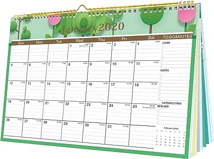Calendario 2020 Calendario de pared 2020-2021 de 12 pulgadas x 17 ...