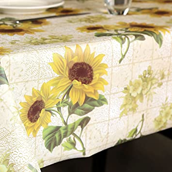vinyl tablecloth leevan wipe clean heavy weight kitchen table cover spill proof water - Kitchen Table Covers Vinyl