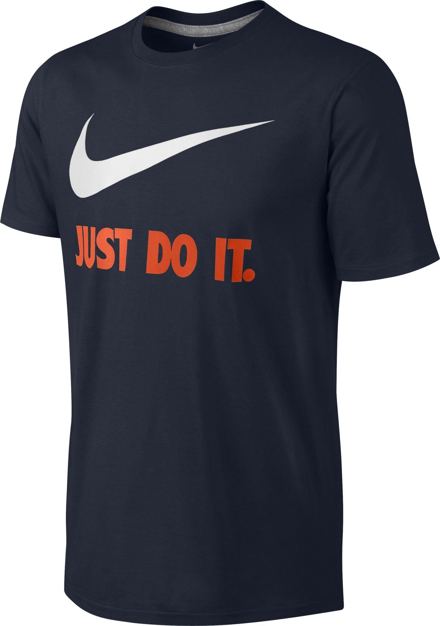 NIKE Mens Swoosh T-Shirt, S, Blue
