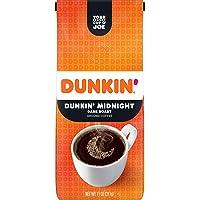 Dunkin' Midnight Dark Roast Ground Coffee, 11 Ounces