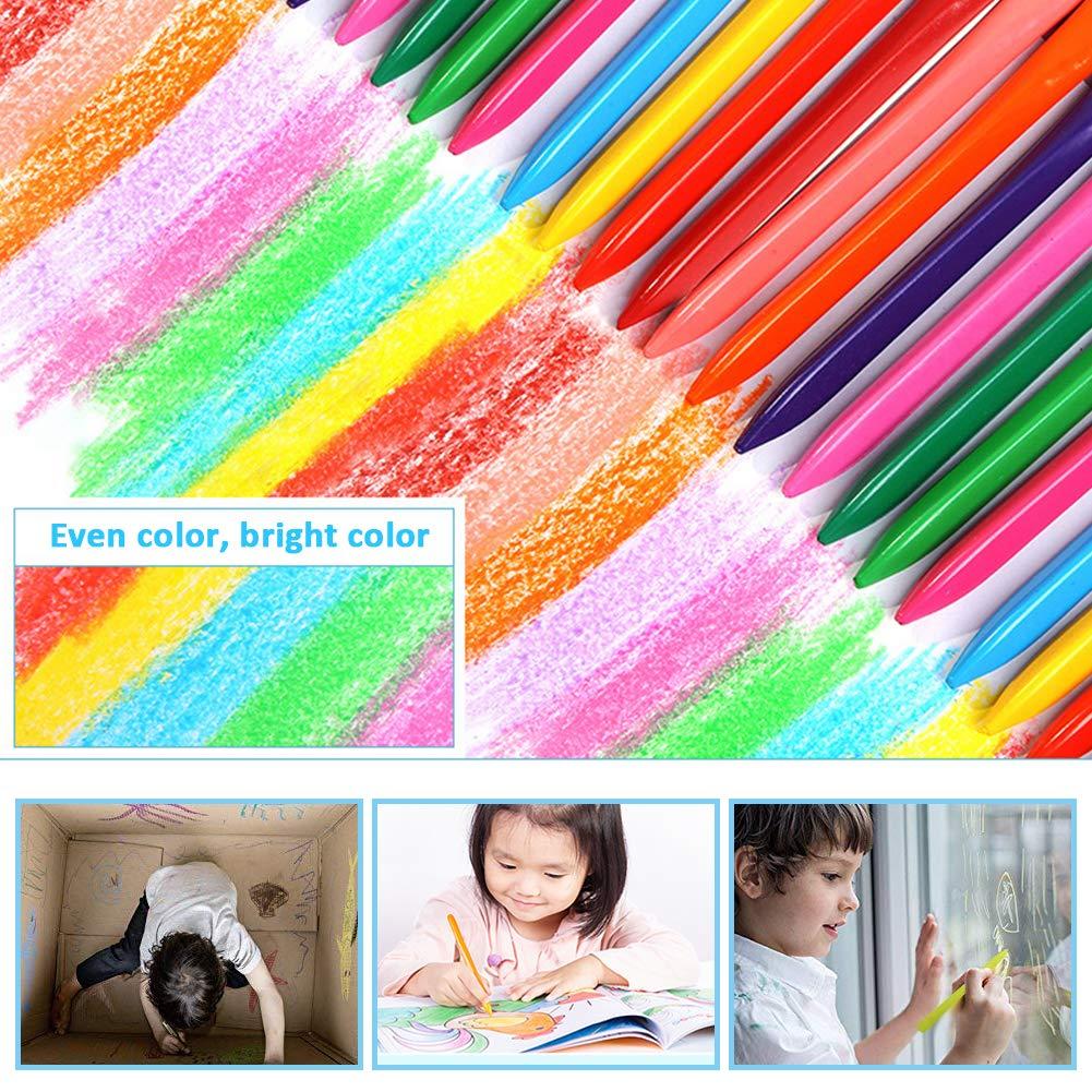 Pastello 36 colori WENTS 36PCS Triangolo pastello strumenti artistici pastello a colori set confezione atossica di sicurezza color box