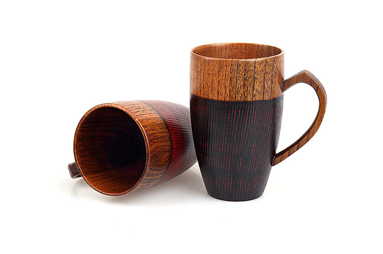 WOOD MEETS COLOR Mug Cup Handmade Wood with Heart Handle(Black 10 OZ) by WOOD MEETS COLOR (Image #4)