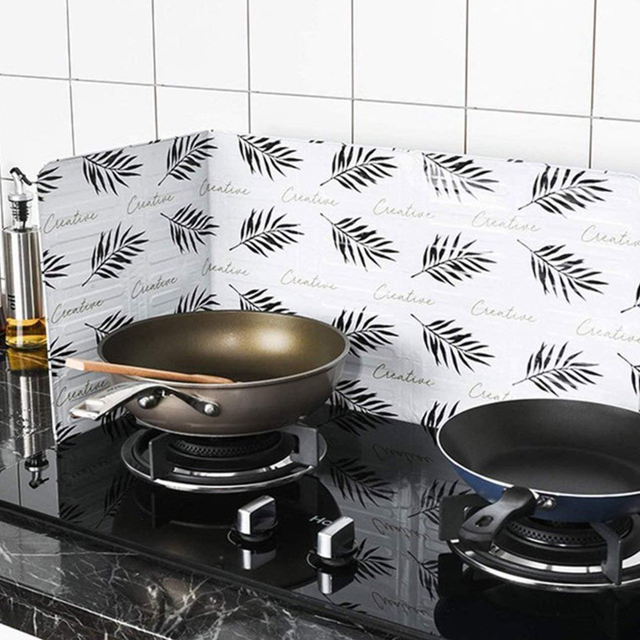Feuille Longspeed Huile Feuille Daluminium Plaque Po/êle Gaz /Éclaboussures Dhuile /Écrans Outils De Cuisine Cuisson Isoler Anti-/éclaboussures Chicane Plaque De Cuisine