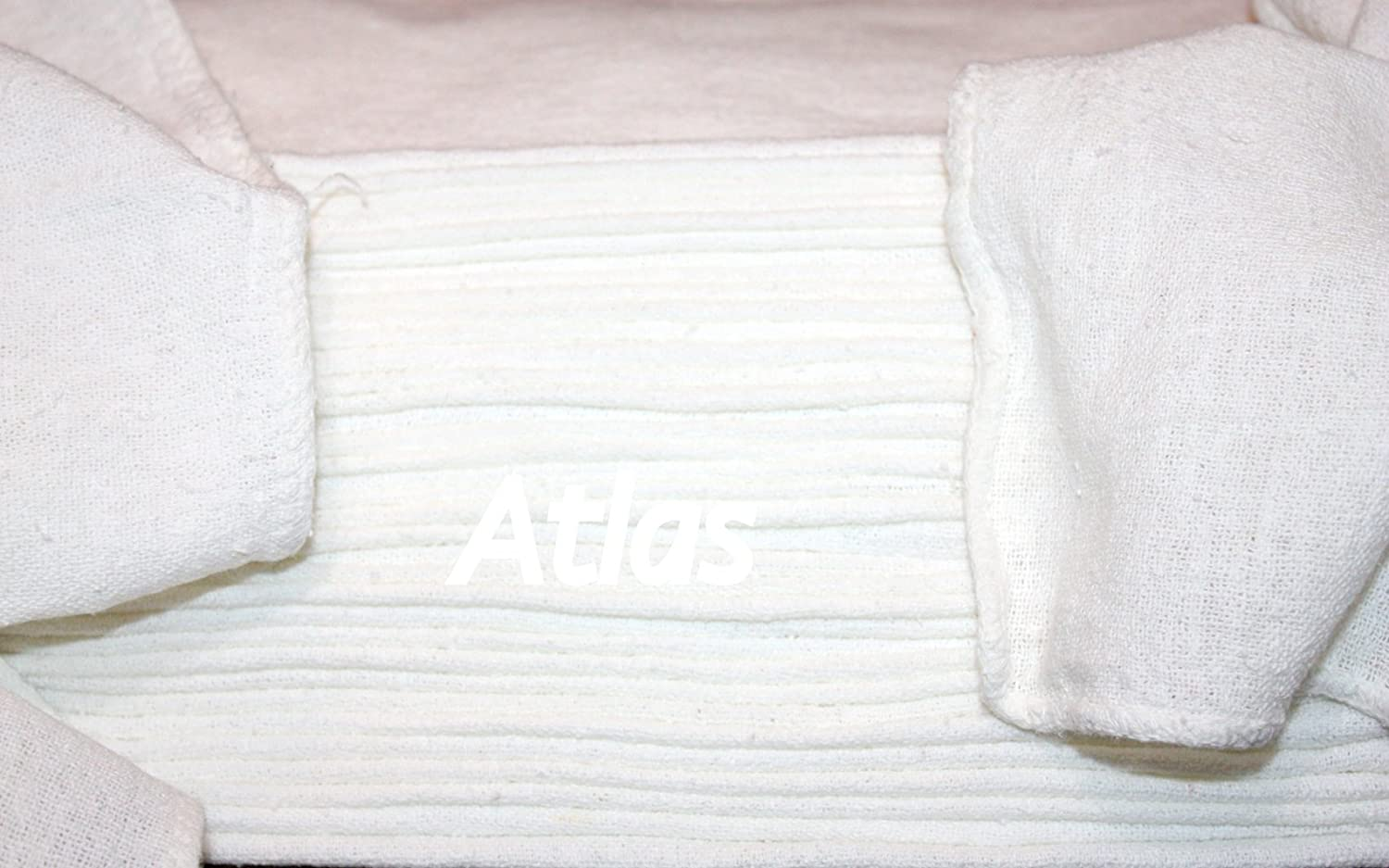 ATLAS 1000 Pcs White 100% Cotton Rags Shop Towel, Industrial Strength, New, for Wiping Machinery, Tools, Floors, Spills