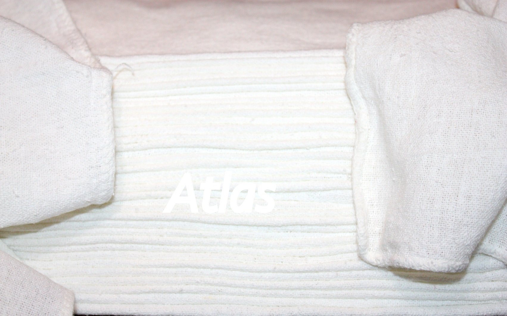 ATLAS 500 Pcs White 100% Cotton Rags Shop Towel, Industrial Strength, New, for Wiping Machinery, Tools, Floors, Spills