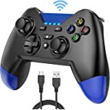Wireless Switch Pro Controller for Nintendo Switch, AGPTEK Pro Game Controller Compatible with Nintendo Switch Pro Windows and Sony PS3, 20H Remote Gamepad with Gyro Sensor and Turbo Functions, Blue
