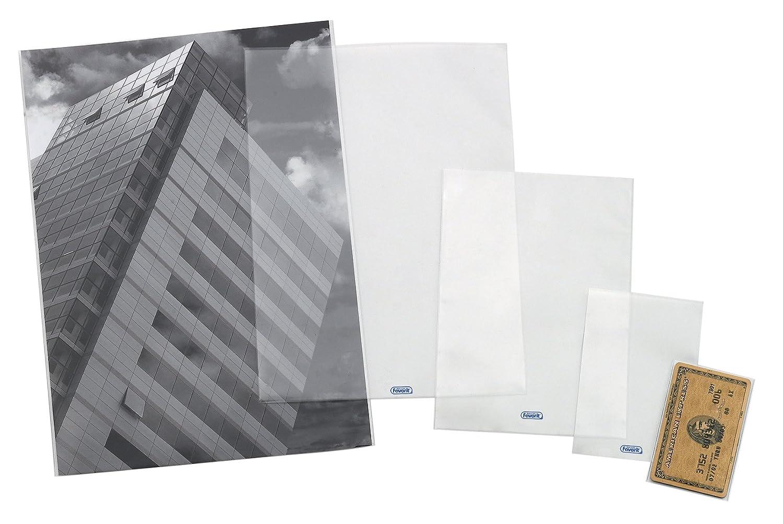 Favorit 100460089 Busta a U Ultra Trasparente con Apertura Superiore Formato Interno 8X12 cm confezione da 25 pz.