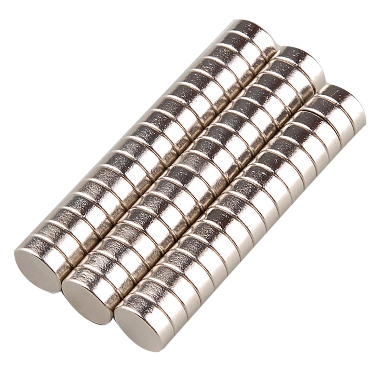 Tinxi 50 mini magneti al neodimio, eccellenti magneti per uso domestico, superficie magnetica con diametro di 8mm e spessore di 3mm