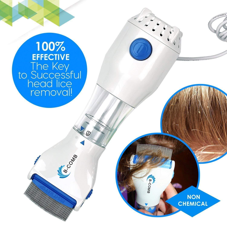 PretiHom 4 Head Lice and Nit Capture Filters - B-Comb Head Lice Comb - Natural Lice Treatment